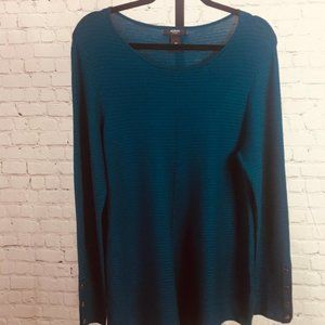 Alfani Blue Long Sleeve Knit Sweater, NWT, 0X